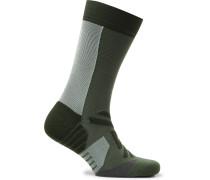 Intarsia Stretch-Jersey Running Socks