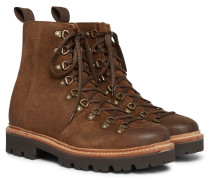 Brady Brushed-suede Boots - Brown