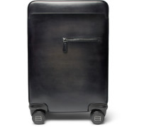 Formula 1004 Leather Carry-on Suitcase - Black