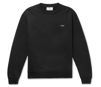 Logo-embroidered Loopback Cotton-jersey Sweatshirt - Black
