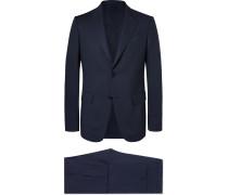 Navy Packaway Slim-fit Wool Suit - Navy