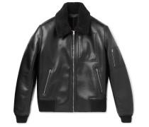 Liam Faux-leather Bomber Jacket