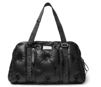 Quilted Leather Holdall - Black