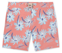 Beacon Slim-fit Long-length Printed Swim Shorts
