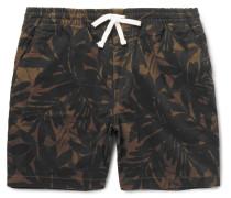 Printed Stretch-cotton Twill Shorts