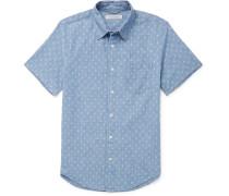 Printed Cotton-chambray Shirt - Blue
