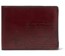 Scritto Leather Billfold Wallet - Burgundy