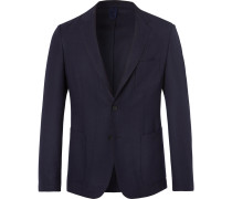 Navy Noswen Virgin Wool Blazer - Navy