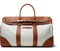 Canvas And Full-grain Leather Holdall - Tan
