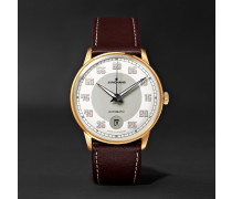 Meister Driver Automatic 38mm Gold-tone Stainless Steel And Leather Watch - White