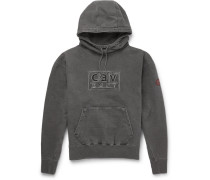 Logo-embroidered Cotton-jersey Hoodie - Black