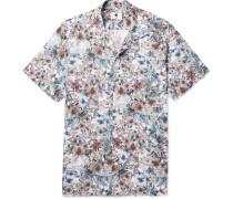 Miyagi Camp-collar Printed Cotton Shirt