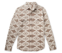 Brushed Cotton-jacquard Shirt - Cream