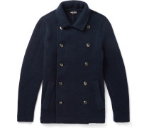 Slim-fit Double-breasted Cashmere-blend Coat