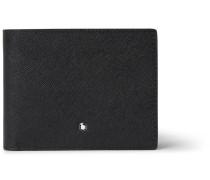 Sartorial Cross-grain Leather Billfold Wallet - Black