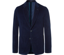 Navy Soho Slim-fit Cotton-corduroy Blazer