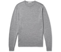 Lundy Slim-fit Mélange Merino Wool Sweater