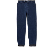 Shell-trimmed Cotton-corduroy Trousers
