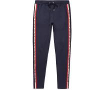 Slim-fit Tapered Grosgrain-trimmed Jersey Sweatpants