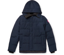 Macmillan Slim-fit Quilted Shell Hooded Down Parka - Blue