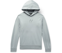 Loopback Cotton-jersey Hoodie - Sky blue