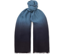 Dégradé Wool Scarf - Navy