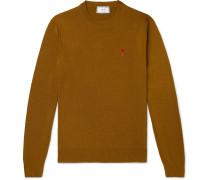 Logo-Appliquéd Merino Wool Sweater