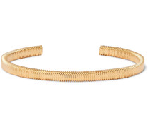 Thread Gold-plated Cuff - Gold