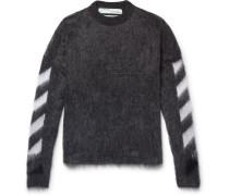 Intarsia Mohair-blend Sweater - Gray
