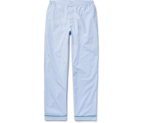 Marcel End-on-end Cotton Pyjama Trousers - Blue