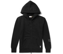 7 Moncler Fragment Shell-panelled Loopback Cotton-jersey Zip-up Hoodie - Black