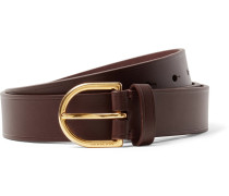 3cm Dark-brown Alex Leather Belt