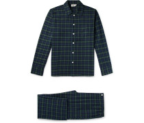 Henry Checked Cotton-Flannel Pyjama Set