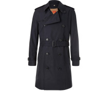 Kensington Double-breasted Cotton-gabardine Trench Coat With Detachable Gilet - Navy