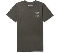 Trident Garment-dyed Cotton-jersey T-shirt - Black
