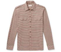 Slim-fit Checked Cotton-twill Shirt
