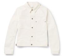 Cobe Leather-trimmed Denim Jacket