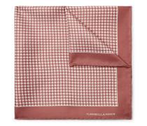 Puppytooth-Print Silk-Twill Pocket Square