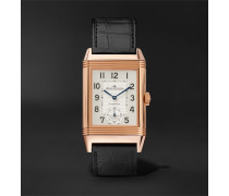 Reverso Classic Large Duoface 28mm 18-karat Rose Gold And Alligator Watch