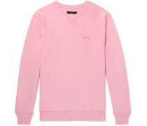 Logo-embroidered Loopback Cotton-jersey Sweatshirt - Pink