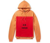 Oversized Appliquéd Fleece-back Cotton-blend Jersey Hoodie