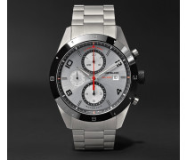 Timewalker Chronograph Automatic 43mm Stainless Steel And Ceramic Watch - Silver