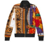 Printed Satin-jersey Track Jacket - Multi