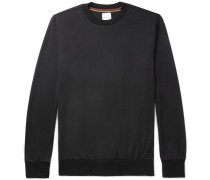 Stripe-trimmed Wool-jersey Sweatshirt