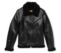Shearling Bomber Jacket - Black
