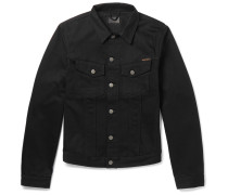 Billy Slim-fit Organic Denim Jacket - Black
