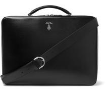 Baker Brief Full-grain Leather Briefcase - Black