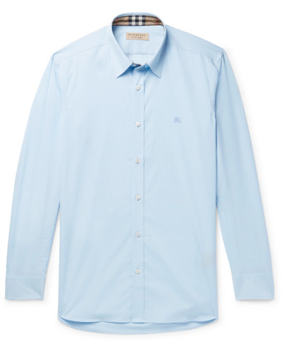 Slim-fit Stretch-cotton Poplin Shirt