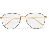 Santos De Cartier Aviator-style Gold-tone Optical Glasses - Gold