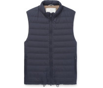 Quilted Shell Down Gilet - Navy